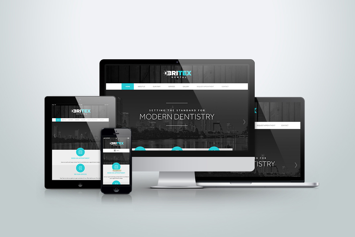 Website Design Development Britex Dental Mobile Friendly