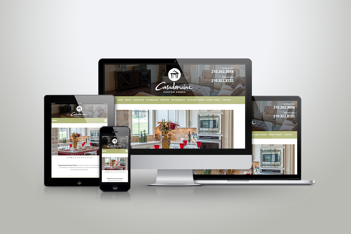 Website Design Development Mobile Friendly Casadomaine Custom Homes