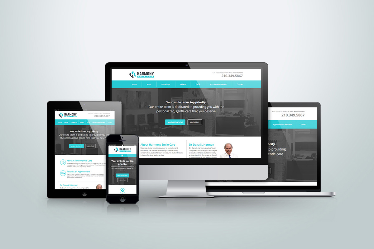 Website Design Development Mobile Friendly Harmony Smile Care