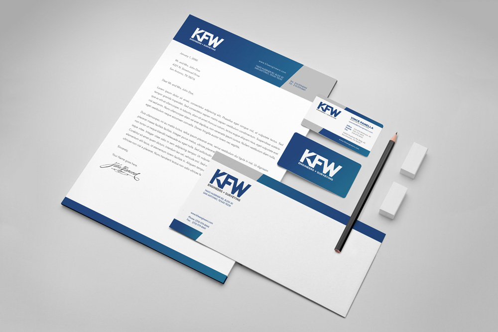 KFW branded marketing material