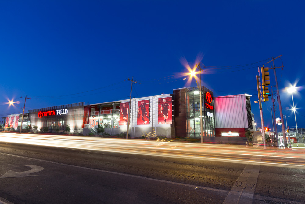 Photography Architectural Exterior Toyota Field