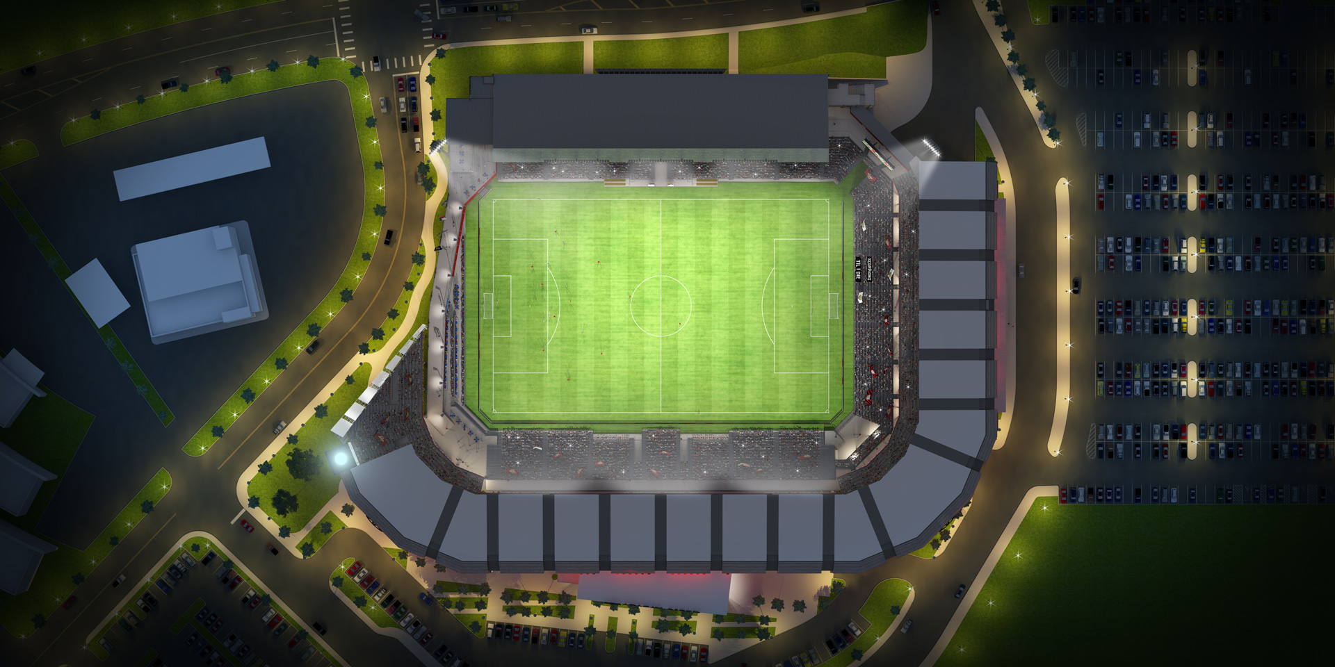 Toyota Field 3D Illustration Rendering