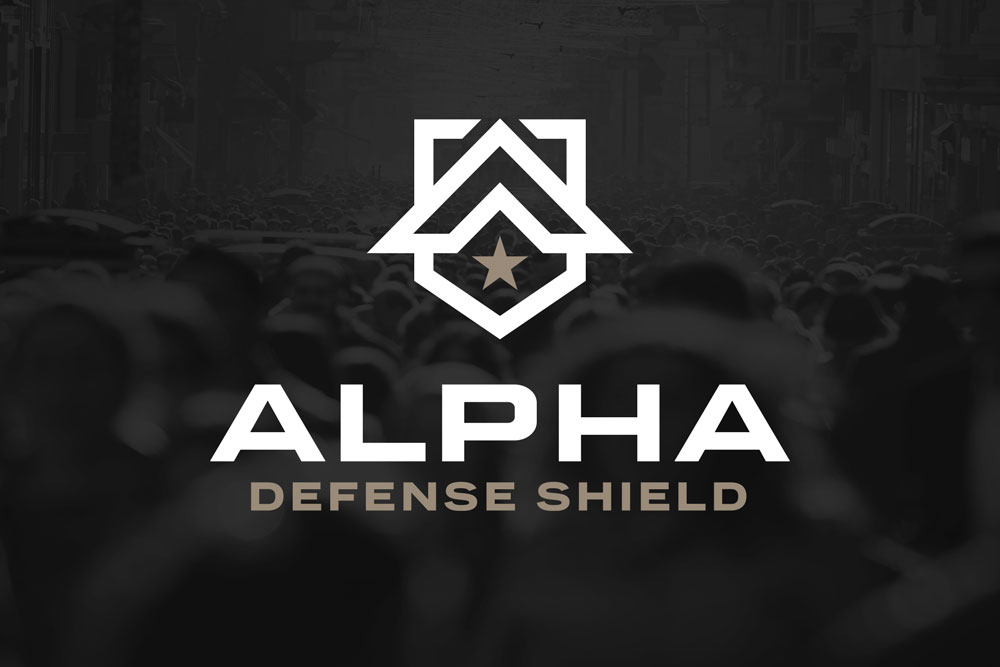 Graphic Design Logo Design Branding Alpha Defense Shield Logo