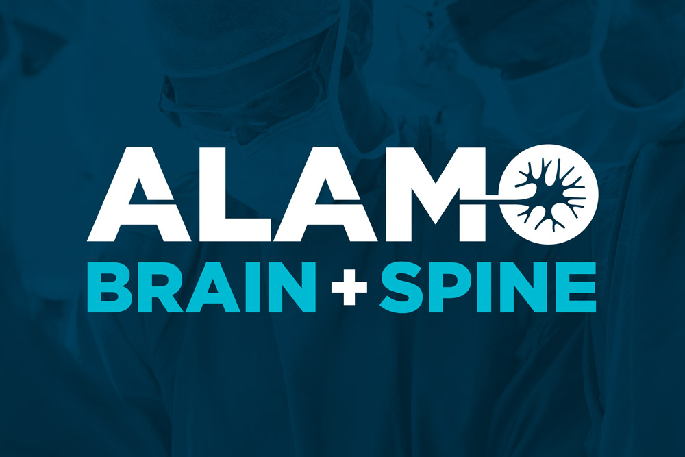 Graphic Design Logo Design Branding Alamo Brain and Spine Logo