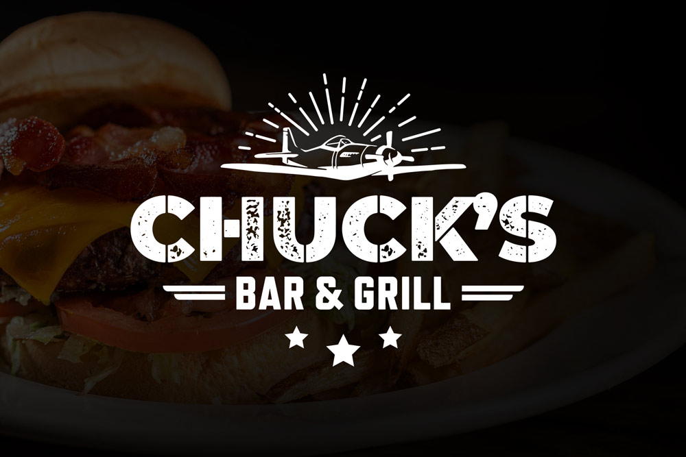 Graphic Design Logo Design Branding Chucks Bar and Grill Logo