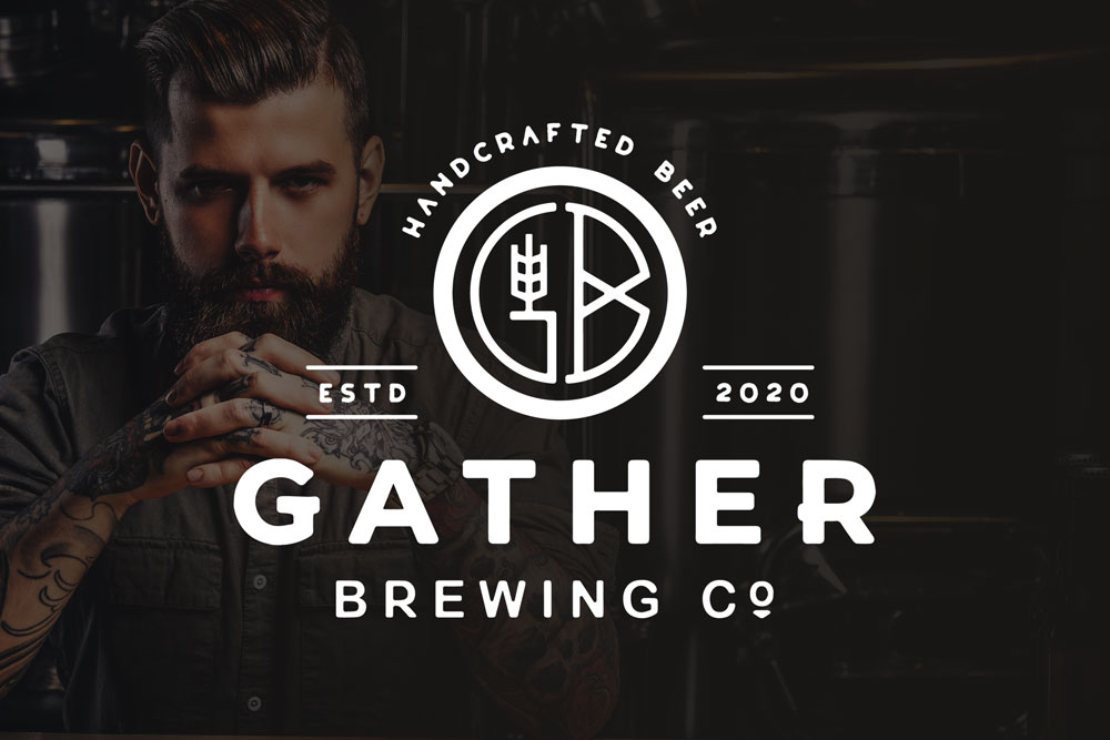 Graphic Design Logo Design Branding Gather Brewing Co Logo