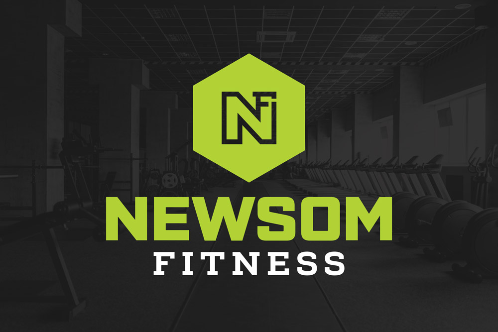 Graphic Design Logo Design Branding Newsom Fitness Logo