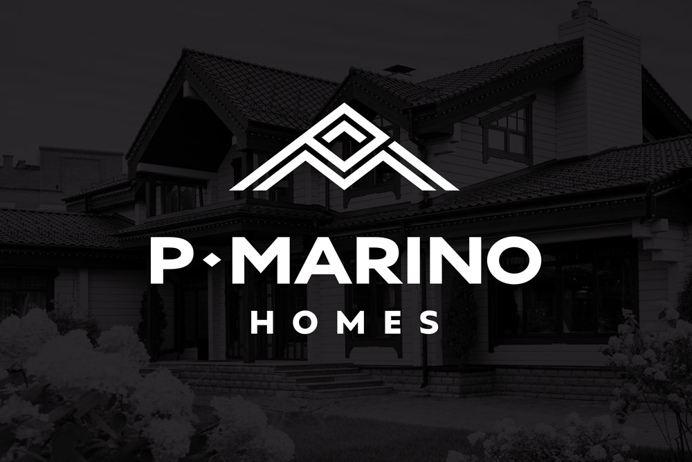 Graphic Design Logo Design Branding P Marino Homes Logo
