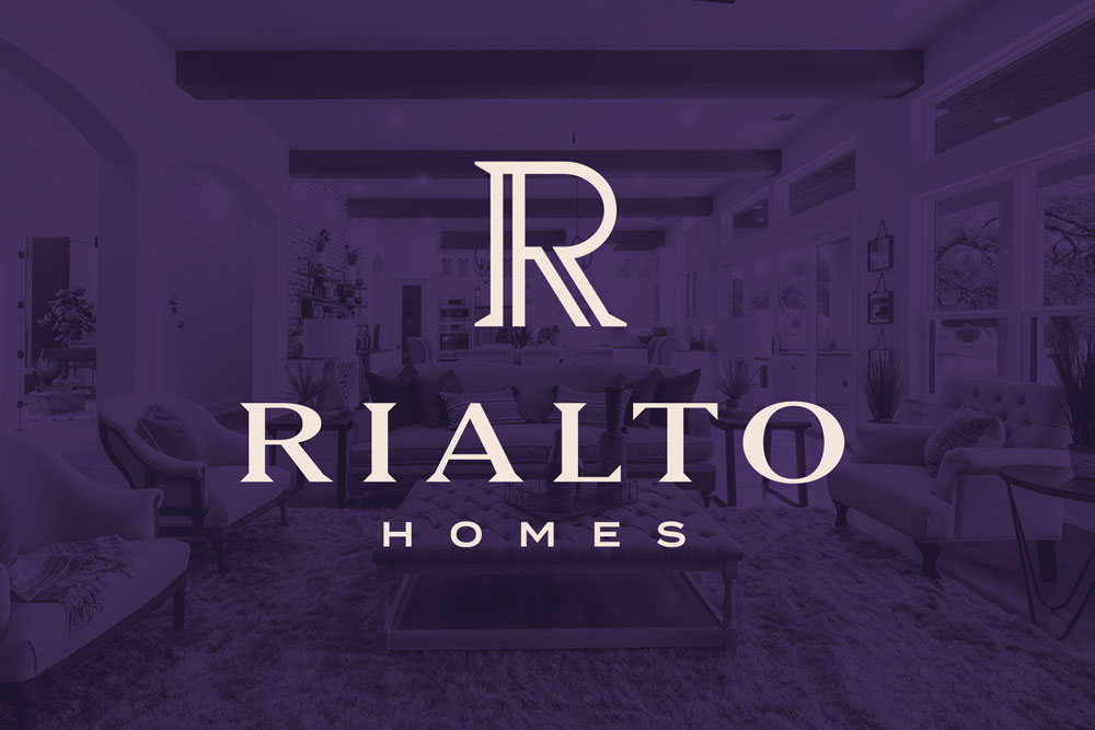 Graphic Design Logo Design Branding Rialto Homes Logo