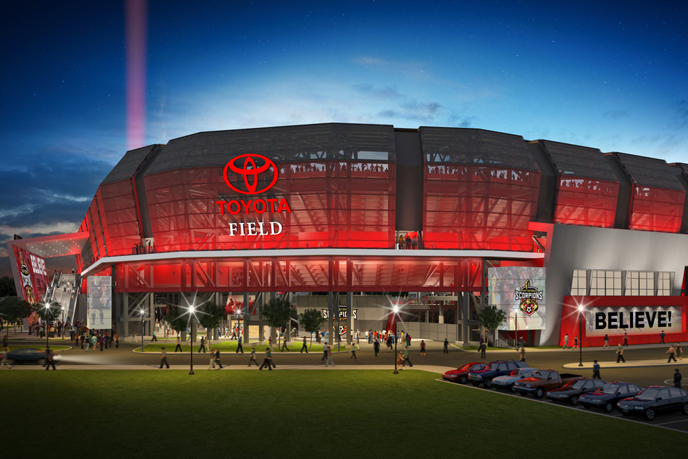 Toyota Field 3D rendering visualization