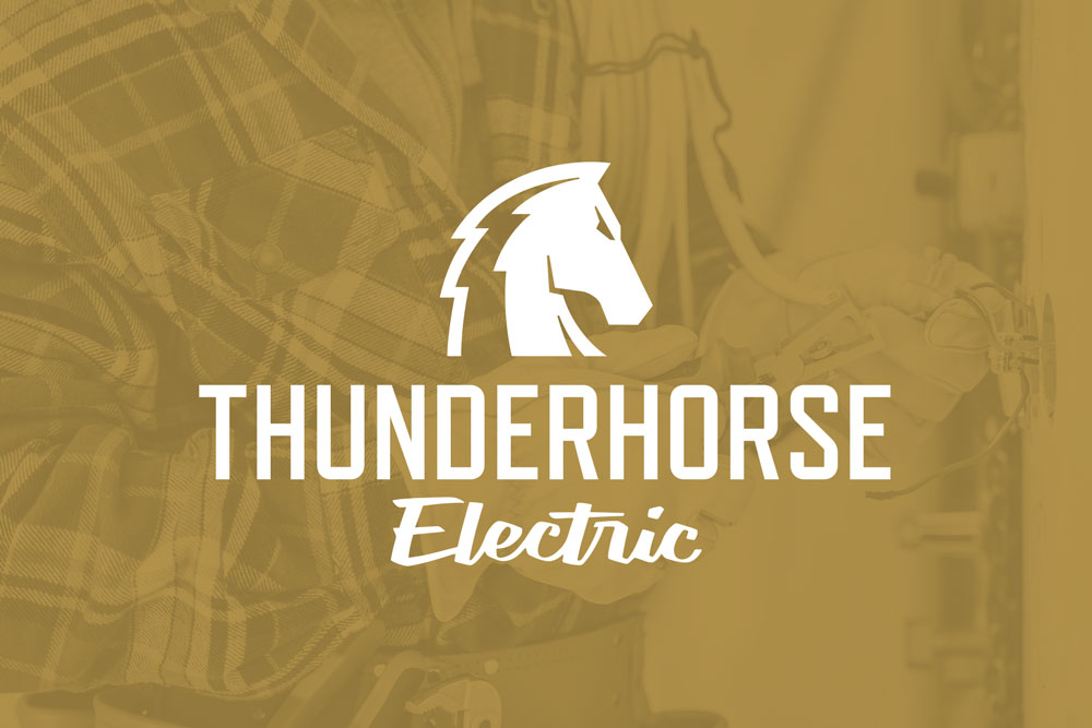 Graphic Design Logo Design Branding Thunderhorse Electric Logo