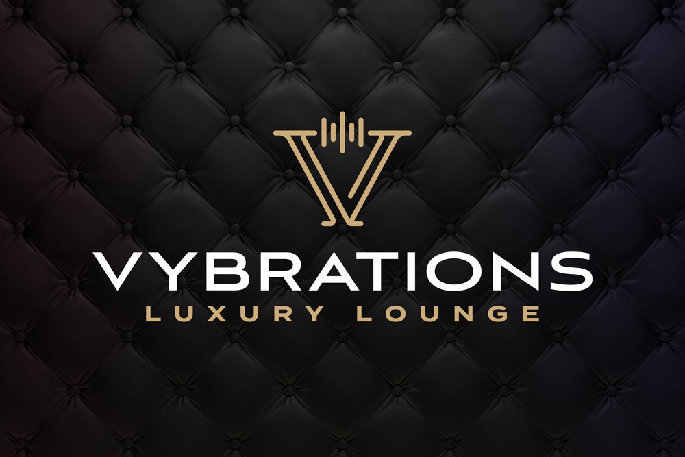 Graphic Design Logo Design Branding Vybrations Luxury Lounge Logo