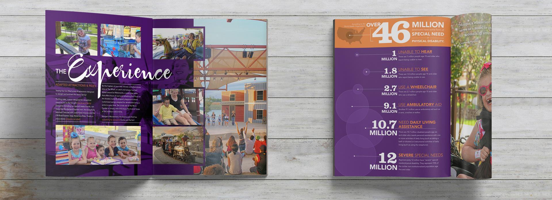 Morgan's Wonderland San Antonio Graphic Design Brochure Design Marketing Collateral