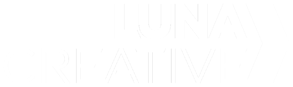 luna creative white logo